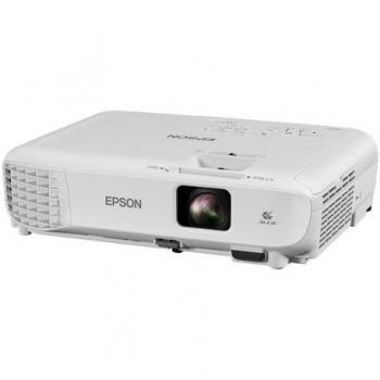 Proiector Epson EB-S05 3LCD, SVGA 800x600,3200 lumeni, 15000:1,lampa6000 ore / 10.000 ore eco mode, Cinch audio in, Composite, HDMI, VGA, Wireless