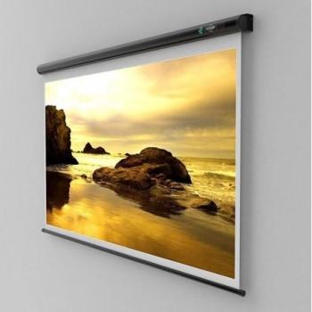 Ecran de proiectie montabil pe perete Sopar New Slim 180 x 180cm, Mecanism de blocare, White, 2180SL, SP2180SL