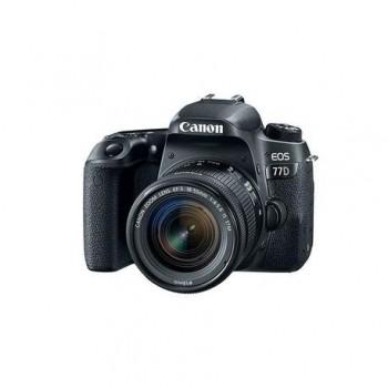 Camera foto Canon EOS77D KIT, obiectiv 18-55mm F4.0-5.6 IS STM, 24.2MP, CMOS,3