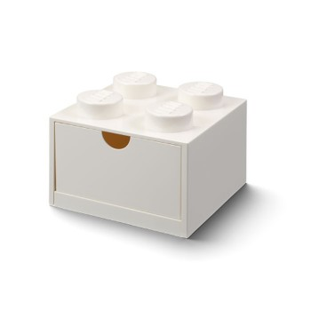 Sertar de birou LEGO 2x2 alb