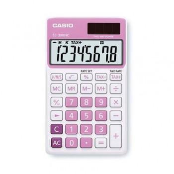 Calculator de buzunar Casio SL-300NC, 8 digits, roz