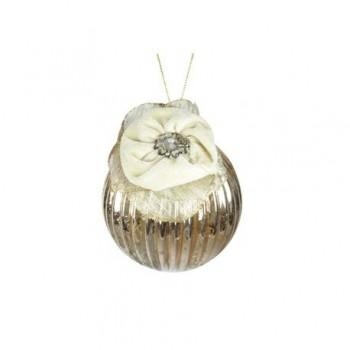 Glob cu flori, 10 cm, auriu