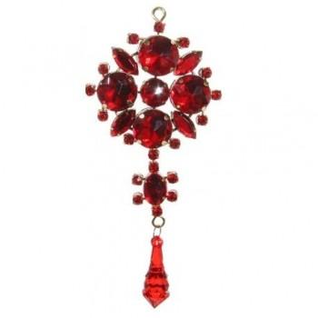 Ornament rosu, 16 cm