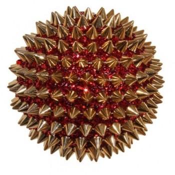 Glob arici, 10 cm, rosu