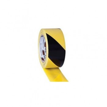 Banda adeziva Tarifold, pentru marcaj, 150 microni, 50 mm x 33 m, adeziv PVC, galben/negru