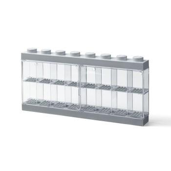 Cutie gri pentru 16 minifigurine