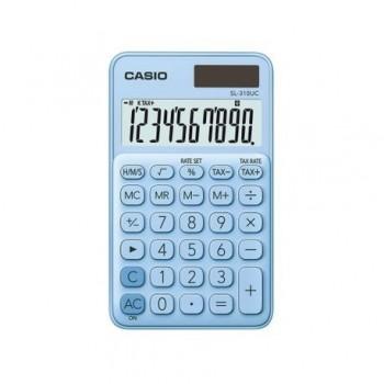 Calculator portabil Casio SL-310UC, 10 digits, bleu