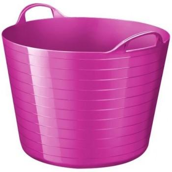 Cos de birou CEP Flexitub, 40 l, roz
