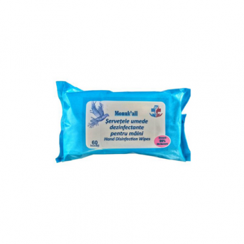 Servetele umede dezinfectante 60buc/pachet Monuk All