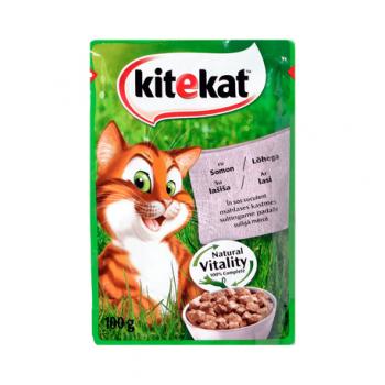Hrana umeda pisici somon 100gr Kitekat