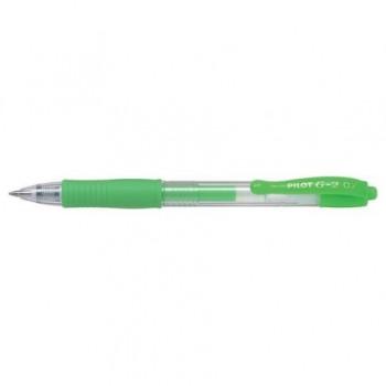 Pix cu gel Pilot G2 Neon, 0.7mm, verde neon