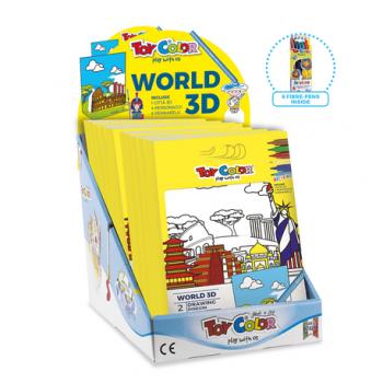 Set desen 3D Orașele lumii Toy Color