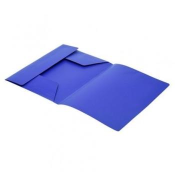 Mapa plastic, inchidere cu elastic, albastru