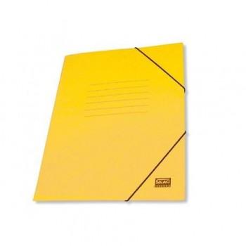 Mapa carton cretat Skag, A4, inchidere cu elastic, galben