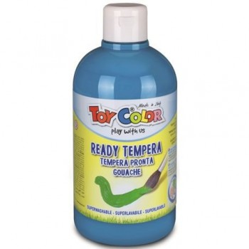 Tempera superlavabila Toy Color, 250 ml, cyan