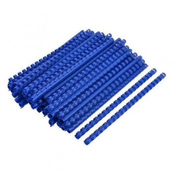 Spire de plastic Fellowes, 14 mm, 100 bucati/set, albastru