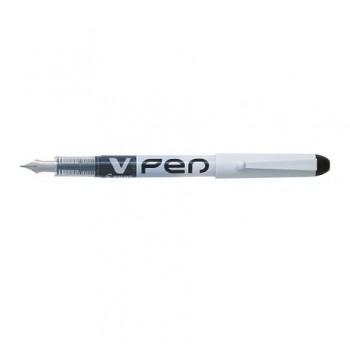 Stilou Pilot V-Pen Erasable, varf mediu, negru