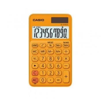 Calculator portabil Casio SL-310UC, 10 digits, portocaliu