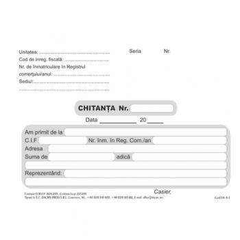 Chitanta A6, 2 exemplare, hartie offset