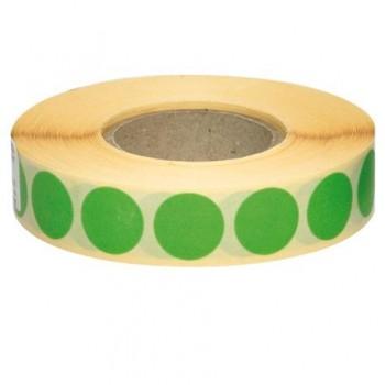 Etichete autoadezive rotunde, 18 mm, verde, 2110 bucati/rola