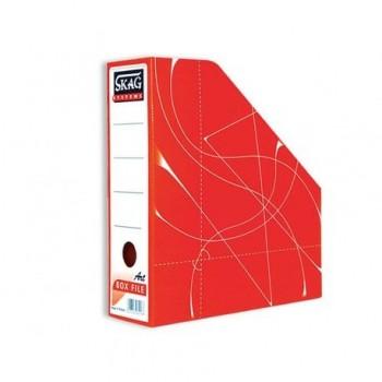 Suport vertical documente Skag, rosu