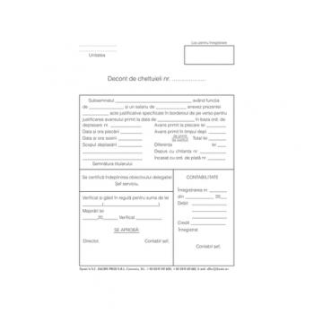 Decont de cheltuieli, A5, hartie offset, 100file/carnet