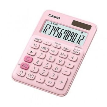 Calculator de birou Casio MS-20UC, 12 digits, roz