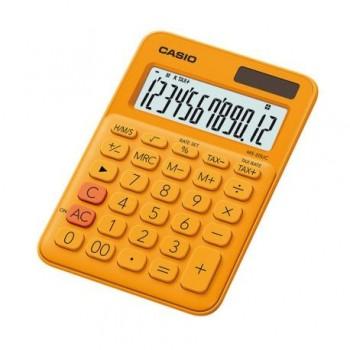 Calculator de birou Casio MS-20UC, 12 digits, portocaliu