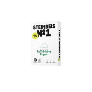 Hartie copiator Recycled Steinbeis, A4, 80 gr/mp, 5 topuri/cutie, pret per cutie