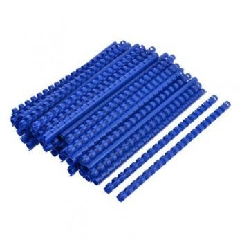 Spire de plastic Fellowes, 12 mm, 100 bucati/set, albastru