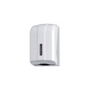 Dispenser ABS, pentru hartie igienica pliata, Alb