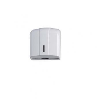 Dispenser manual ABS, pentru servetele pliate, 300 portii, Alb