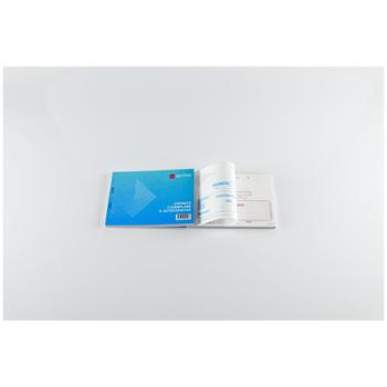 Set chitanta A6, 3 exemplare, autocopiativa, coperta carton 300 g/mp