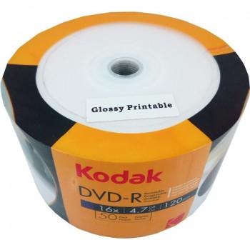 DVD-R Kodak full printabil Lucios, 4.7GB, 16x, 50 buc