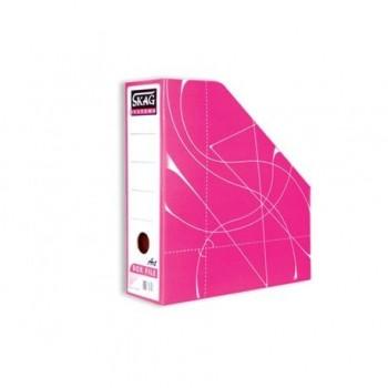 Suport vertical documente Skag Fancy, roz
