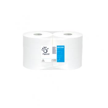 Hartie igienica alba, 2 straturi, rola maxi jumbo, 247, 6 role/bax