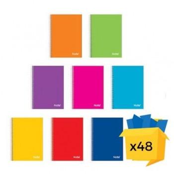 Caiet Notte School, A4, cu spira, 60 file, dictando-matematica, 48/bax, dictando