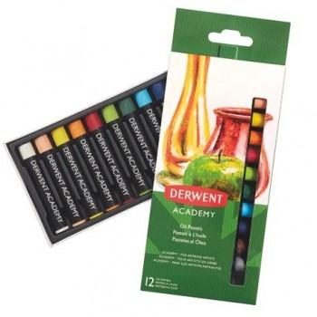 Set 12 creioane ulei pastel Derwent Academy