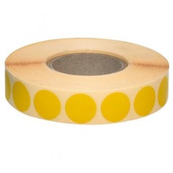 Etichete autoadezive rotunde, 18 mm, galben, 2110 bucati/rola