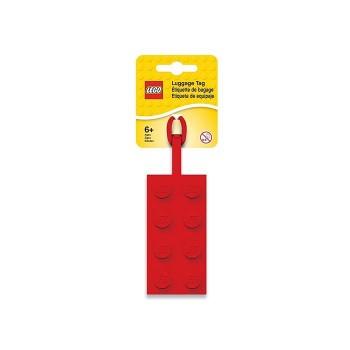 Eticheta bagaje caramida 2x4, rosie  (52002)