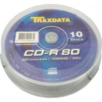 CD-R TRAXDATA, 700MB, 52x, 10 buc