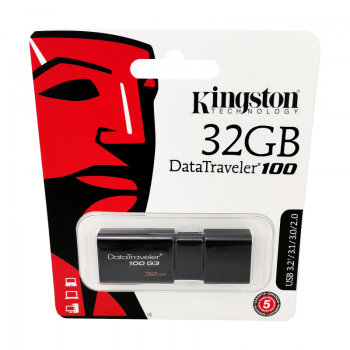 Memorie USB 3.0 Kingston, 32GB, DataTraveler, Black