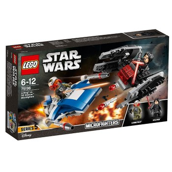 A-Wing contra TIE Silencer Microfighters (75196)