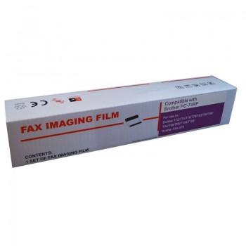 Film termic compatibil cu Brother PC-72RF, 1 rola 217 mm x 47 m