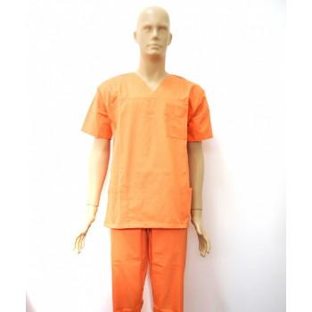 Costum medical portocali - unisex
