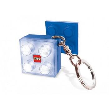Breloc cu lanterna LEGO caramida 2x2 albastra (LGL-KE3W-B)