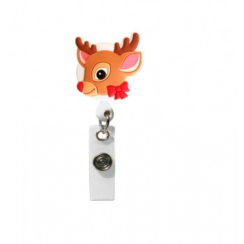 Ecuson retractabil 'Christmas Reindeer'