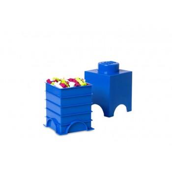 Cutie depozitare LEGO 1x1 albastru inchis (40011731)