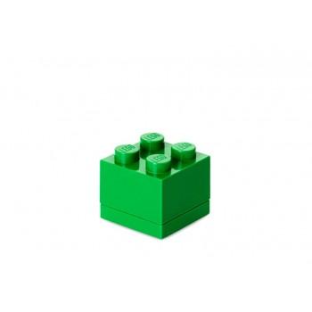 Mini cutie depozitare LEGO 2x2 verde inchis (40111734)
